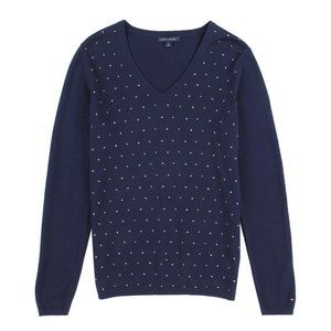 NWT tommy hilfiger Women's navy cotton sweater